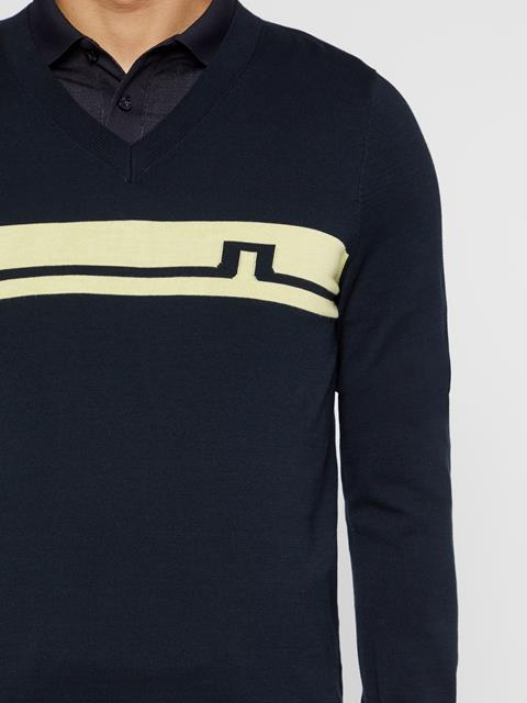 Mens Milo Cotton Sweater JL Navy