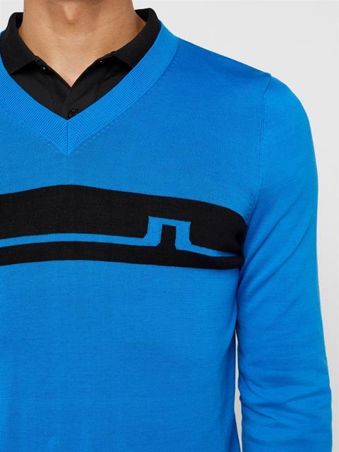 Mens Milo Cotton Sweater True Blue
