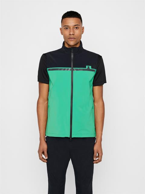 Mens Logo Softshell Vest Stan Green