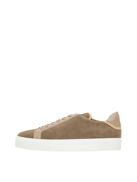 Mens Low Top Suede Sneakers Covert Green