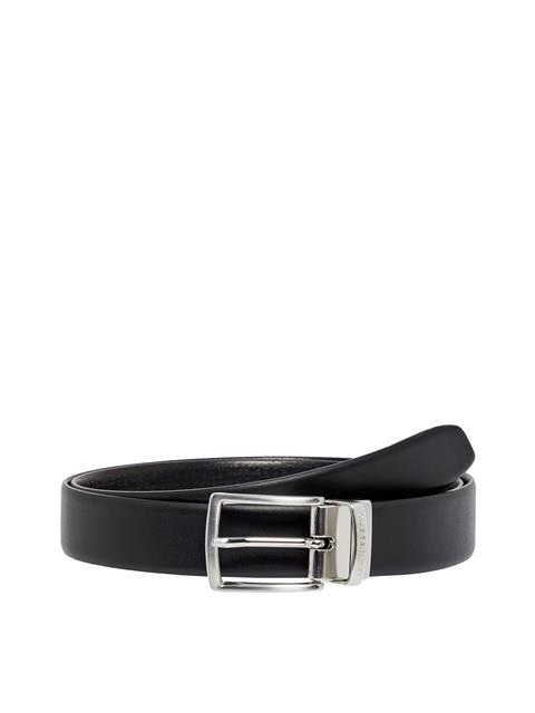 Mens Reversible Leather Belt Black