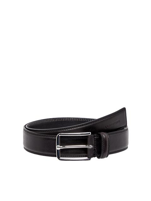Mens Bruce Leather Belt Black