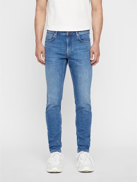 Mens Damien Broken Jeans Mid Blue