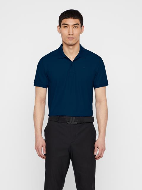 Mens Troy Pique Polo Mid Blue