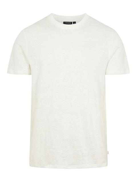 Mens Linen T-Shirt Cloud White