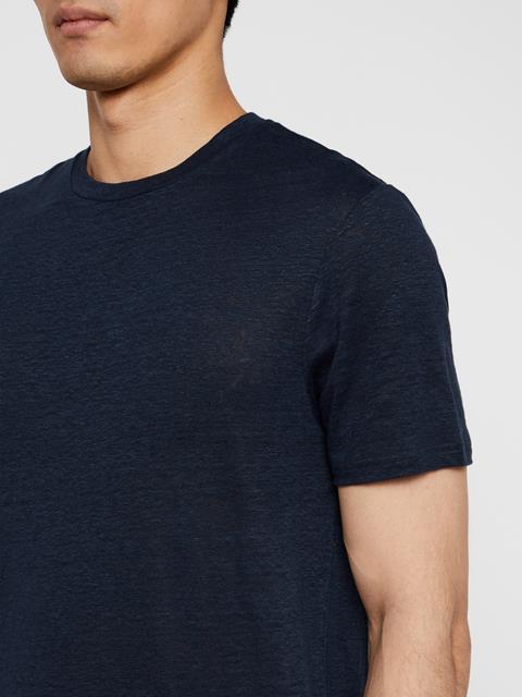 Mens Linen T-Shirt JL Navy