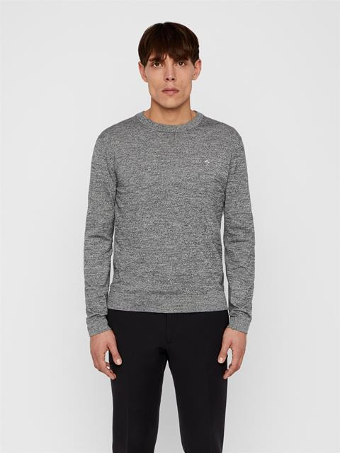 Mens Niklas Cotton Sweater Black Melange