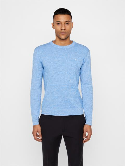 Mens Niklas Cotton Sweater Yale Blue