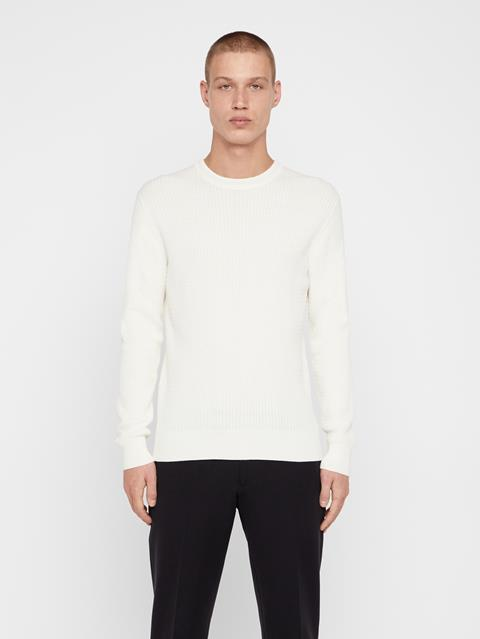 Mens Andy Cotton Sweater Cloud White