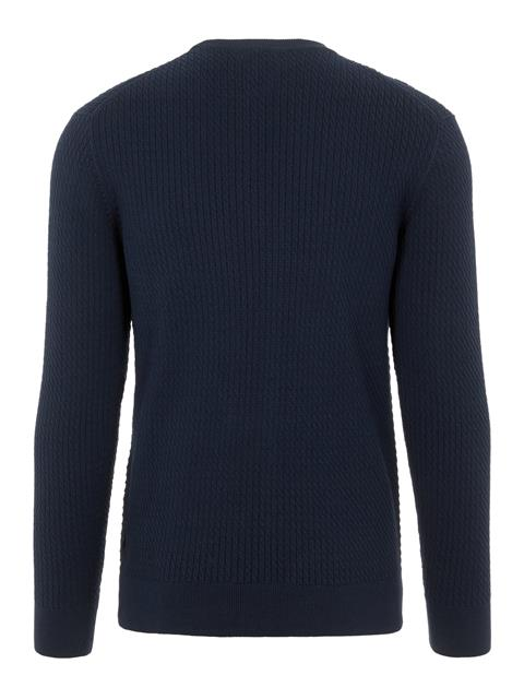 Mens Andy Cotton Sweater JL Navy
