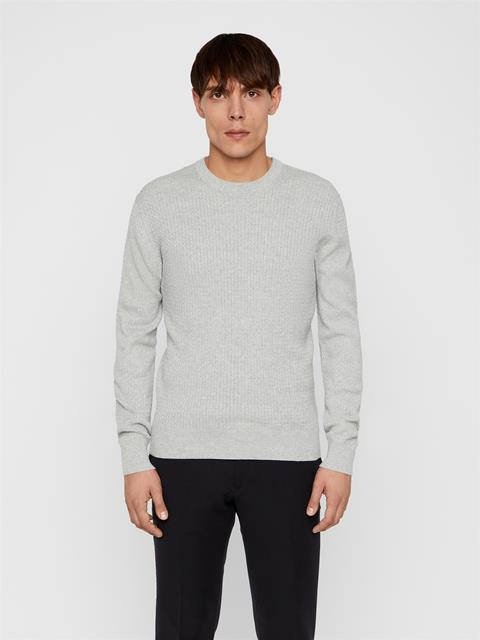 Mens Andy Cotton Sweater Light Grey Melange