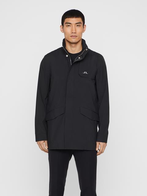 Mens Alph Mechanical Stretch Coat Black
