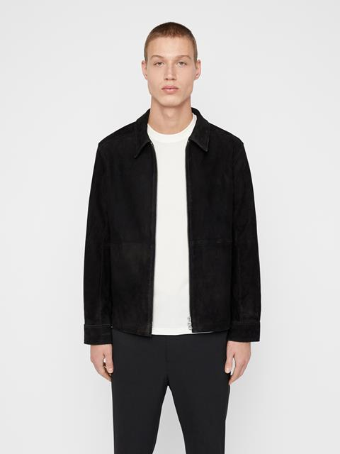 Mens Jonah Suede Jacket Black