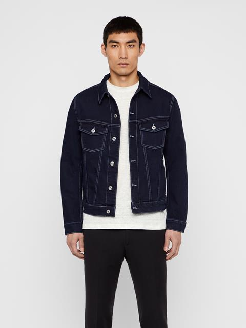 Mens Ran Jean Jacket Mid blue