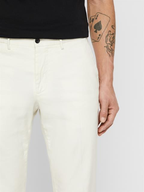 Mens Grant Cotton Linen Pants Cloud White