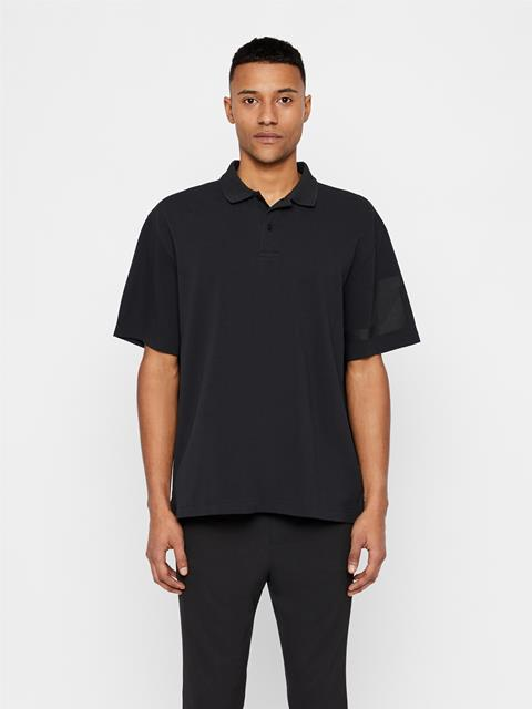Mens Brand JLJL Pique Polo Black
