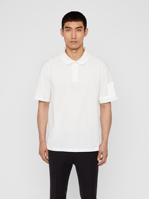 Mens Brand JLJL Pique Polo Cloud Dancer