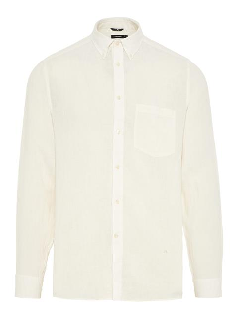 Mens Daniel Linen Melange Shirt Cloud White