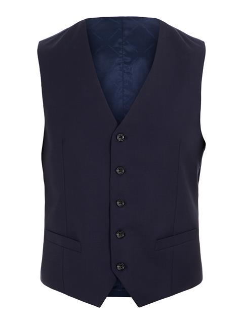 Mens Justin Comfort Wool Waistcoat Navy
