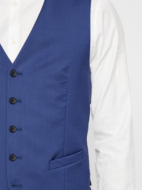 Mens Justin Comfort Wool Waistcoat Yale Blue