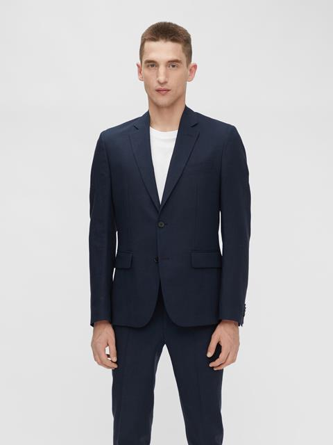 Mens Hopper Tech Linen Blazer JL Navy