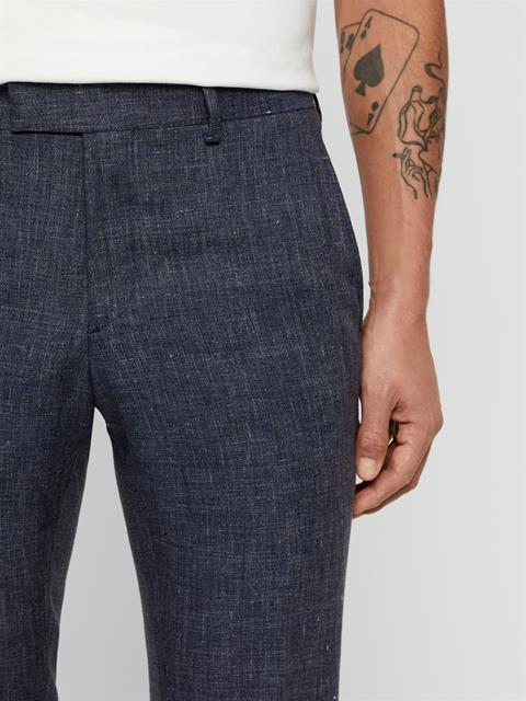 Mens Grant Tech Linen Pants Mid Blue