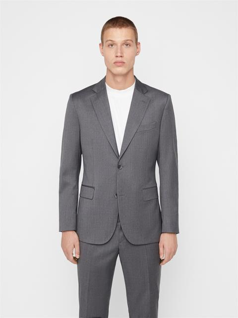 Mens Donnie Legend Wool Blazer Stone Grey