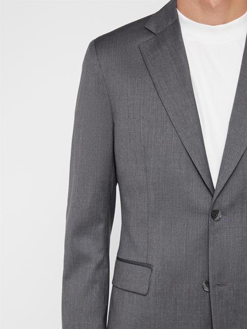 Mens Donnie Legend Wool Blazer Stone Grey