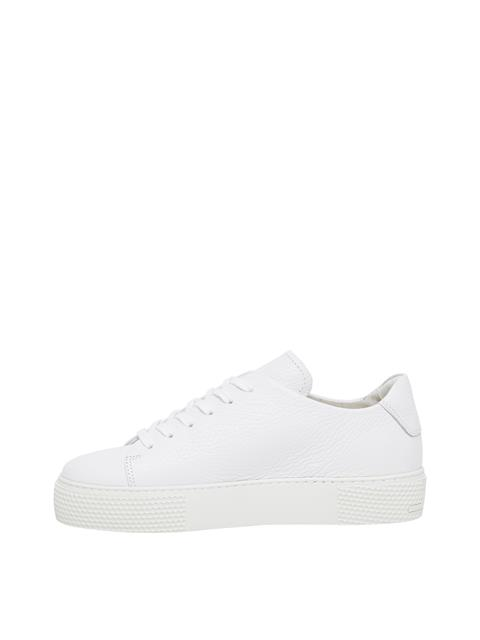 Womens Low Top Leather Sneaker White