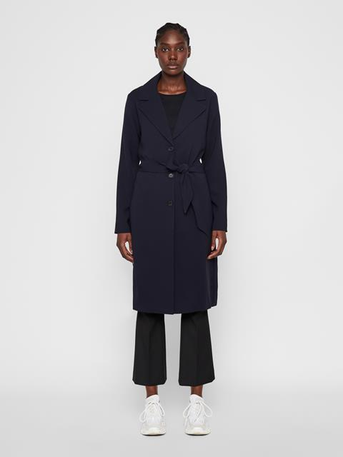 Womens Queen Drape Coat JL Navy