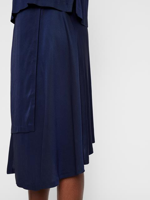 Womens Lizzy Twill Wrap Skirt JL Navy