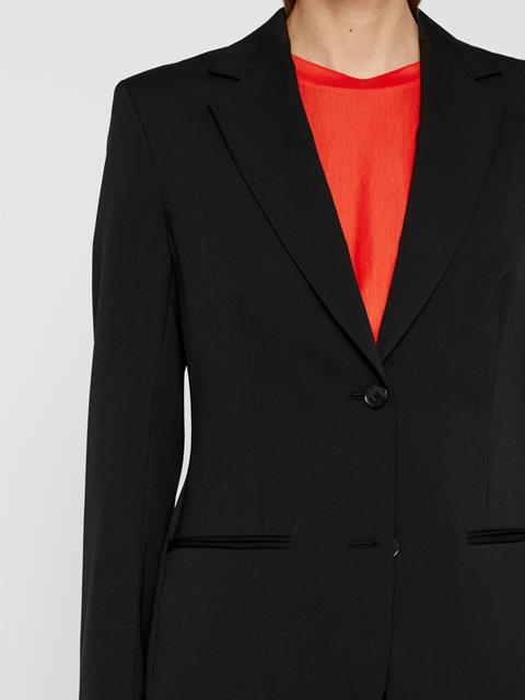 Womens Fern Gabardine Wool Blazer Black