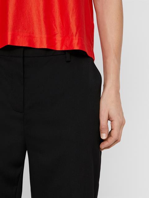 Womens Rylie Gabardine Wool Pants Black