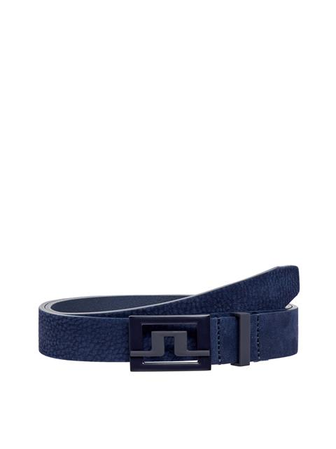 Womens Beverly Brushed Leather Belt JL Navy