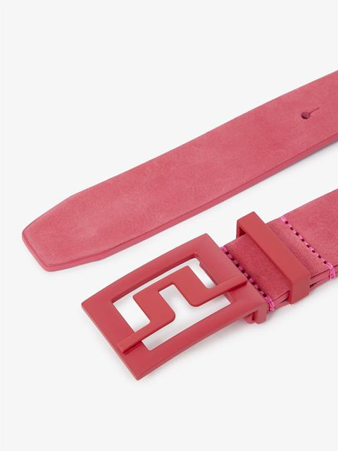 Womens Beverly Brushed Leather Belt Pop Pink