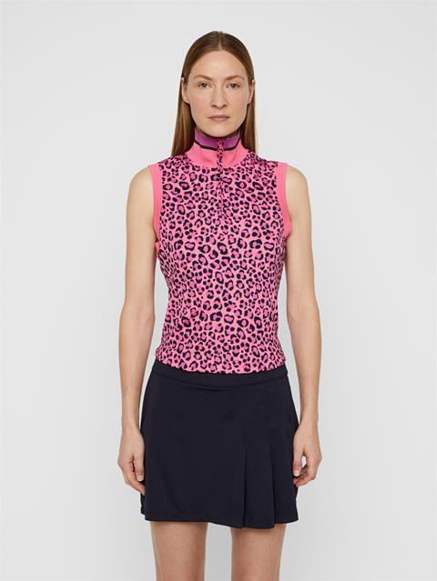 Womens Audrey TX Jersey Polo Pink Leopard