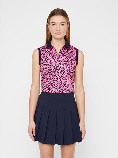 Womens Lyla TX Coolmax Polo Pink Leopard