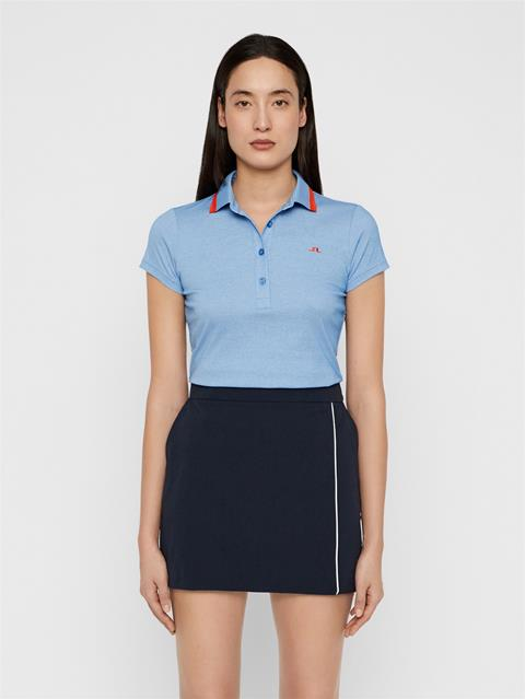 Womens Alve Cotton Poly Polo Lake Blue Melange