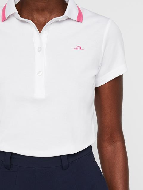 Womens Alve Cotton Poly Polo White