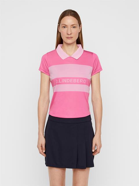 Womens Corinna TX Jacquard Polo Pop Pink