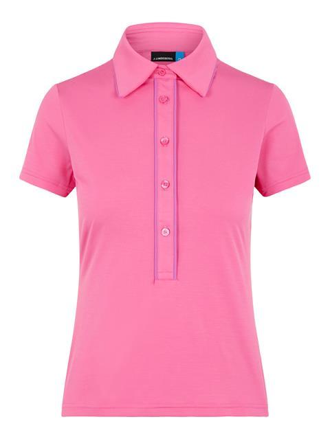 Womens Flor Ultra Light Polo Pop Pink