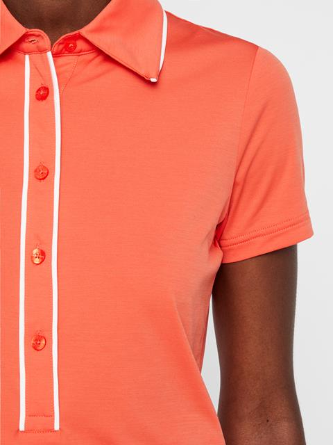 Womens Flor Ultra Light Polo Tomato Red