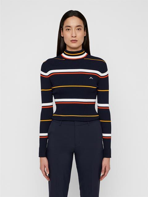 Womens Kaila Ribbed Sweater JL Navy