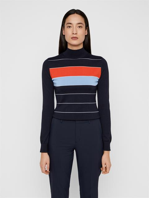 Womens Kyra Wool Coolmax Sweater JL Navy