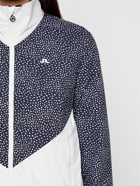 Womens Lily Wind Tech Jacket White Dot