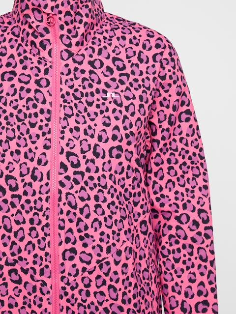 Womens Lilyth Wind Tech Jacket Pink Leopard