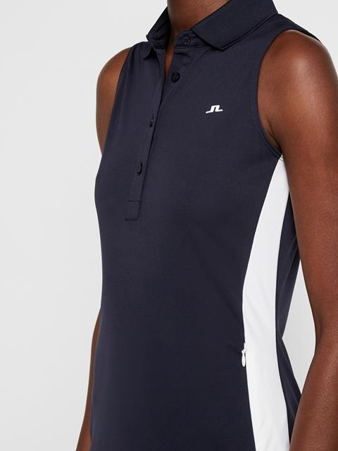 Womens Ulli TX Jersey Dress JL Navy