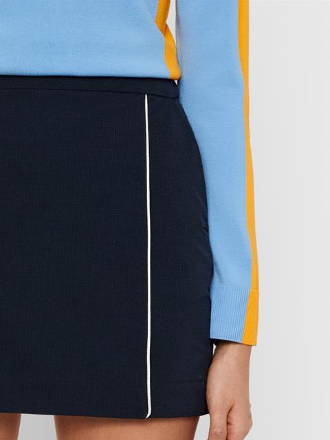 Womens Semina High Vent Skirt JL Navy