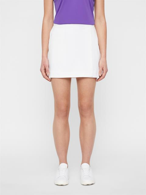 Womens Semina High Vent Skirt White