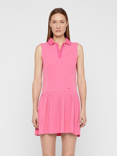 Womens Cora High Vent Dress Pop Pink